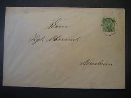 Altdeutschland Württemberg 1892- Ganzsache Schultheissenamt- Beleg Mi.Nr. 103 Gelaufen Von Ebnat Nach Neresheim - Wurtemberg