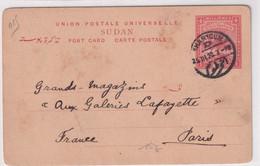 SOUDAN - 1920 - CARTE ENTIER D'un TELEGRAPHISTE De KHARTHOUM => PARIS - Sudan (...-1951)