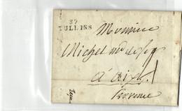 38 -- ISERE -- TULLINS  FACTURE SUR PARCHEMIN NOVEMBRE 1830 - 1801-1848: Precursors XIX