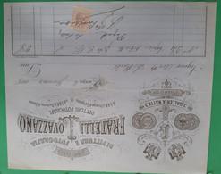 Fattura Con Marca Da Bollo - 1888 - Studio Di Fotografia Fratelli Ovazzano - Italia
