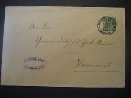 Altdeutschland Württemberg 1907- Ganzsache Schultheissenamt- Beleg Mi.Nr. 229 Gelaufen Von Reutlingen Nach Wannweil - Wurtemberg