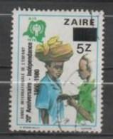 Zaire N°1028 - 1980-89: Usados