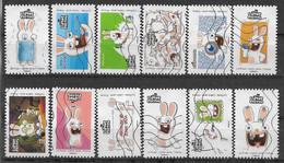 2020 FRANCE Adhesif 1885-96 Oblitérés, Lapins Crétins, Série Complète - KlebeBriefmarken
