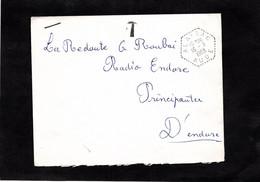 "LSC 1963 - Cachet Hexagonal  Perlé "" ALAIRAC "" (Aude) Et Griffe T - Handstempel"