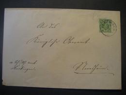 Altdeutschland Württemberg 1892- Ganzsache Schultheissenamt- Beleg Mi.Nr. 103 Gelaufen Von Bopfingen - Wurtemberg