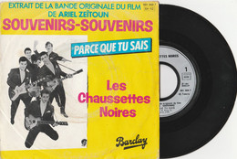 """LES CHAUSSETTES NOIRES """"du Film SOUVENIRS-SOUVENIRS"""" Vinyle 45 Tours (2 Titres) 1961 (Lot 329) - Rock"""