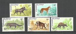 Ethiopia 1975 Used Stamps Set Animals - Ethiopië