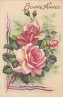 Fantaisies - Carte à Système - Roses Sur Charnière - Paillette - Fête Bonne Année - Editeur IDA - Cartoline Con Meccanismi