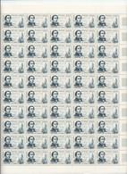 6 Feuilles Complètes De  50 Timbres De La Série N° 1257/62  Célébrités. - Full Sheets