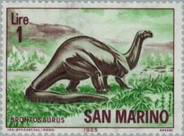 SAINT MARIN - Brontosaure - Fossils