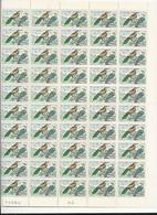4 Feuilles Complètes De  50 Timbres De La Série N° 1273/76  Oiseaux. - Volledige Vellen