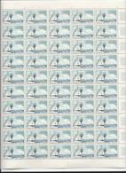 Feuille Complète De  50 Timbres Du N° 1245   Journée Du Timbre Navire Ampère. - Volledige Vellen