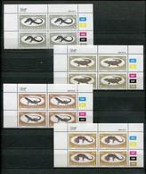 Bophuthatswana Mi# 129-32 Zylinderblocks Postfrisch/MNH Controls - Fauna Reptiles - Bophuthatswana
