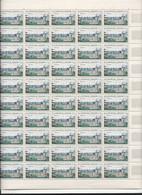 Feuille Complète De  50 Timbres Du N° 1255 Château De Blois. - Full Sheets
