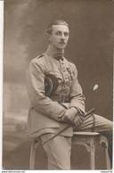 Carte-Photo - Portrait Militaire - Officier Médaillé Du 40e Rgt D'Artillerie (Ca 1935) (BP) - War, Military