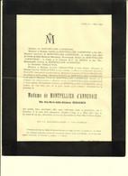 C0536[Rouwbrief] Madame De Montpellier D'Annevoie, Née Alix Marie Adèle Ghislaine Vergauwen (1835-1895) [Anhée] - Todesanzeige