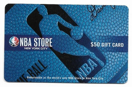 NBA Store, U.S.A., Gift Card For Collection, No Value, # Nba-2 - Gift Cards
