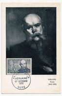 FRANCE => Carte Maximum -  VERLAINE - 27 Octobre 1951 - METZ - 1950-59