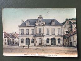 CHATEAU-PORCIEN L'Hôtel De Ville-timbre à Date Au Départ De Juniville + Cachet Mobile - 1877-1920: Période Semi Moderne