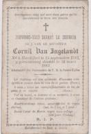 Image Pieuse Religieuse Mortuaire HARDIFORT VAN ANGELANDT 1783 1883 - Devotion Images