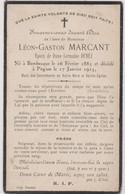 Image Pieuse Religieuse Mortuaire BAMBECQUE PITGAM MARCANT 1883 1925 - Devotion Images