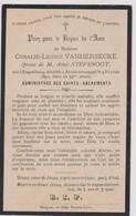 Image Pieuse Religieuse Mortuaire ESQUELBECQ ARMBOUTSCAPPEL  VANHERSECKE STEVENOT 1893 - Devotion Images