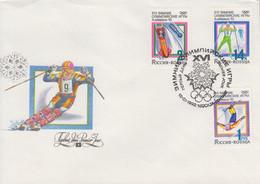Enveloppe  FDC  1er  Jour   RUSSIE   JEUX  OLYMPIQUES  D'  HIVER    ALBERTVILLE    1992 - Invierno 1992: Albertville