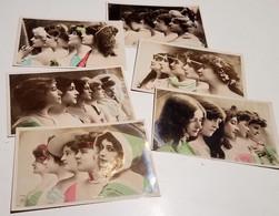 FANTAISIE FEMMES ( LOT DE 6 CARTES ) MODE ART CHAPEAU - Donne