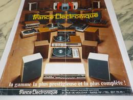 ANCIENNE PUBLICITE FRANCE ELECTRONIQUE 1974 - Altri