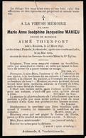 Pamele, Oudenaarde: 1909, Marie Mahieu, Thienpont - Imágenes Religiosas