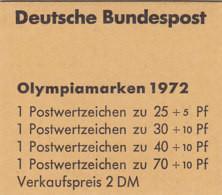 BRD MH 17 Postfrisch **, Olympiamarken 1972 - Postzegelboekjes