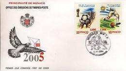 Monaco 1er Jour 1930 75e Anniversaire De La Coupe Du Monde De Football En Uruguay - 1930 – Uruguay