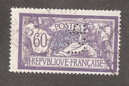 Perforé/perfin/lochung France Merson No 144 C.B. Cie De Béthune - Perforadas