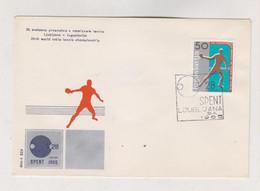 YUGOSLAVIA,1965 LJUBLJANA TABLE TENNIS Cover - Covers & Documents