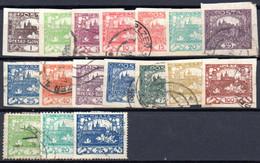 Tchécoslovaquie: Lot 17 Valeurs A étudier, Quelques Centimes Le Timbre - Collections, Lots & Series