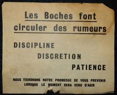 VÉRITABLE PROPAGANDE ALLIÉS WW2 LES BOCHES FONT CIRCULER DES RUMEURS 1943 - 1939-45