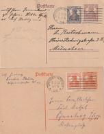 """Deutsches Reich / 1920 / 2 """"Germania""""-Postkarten Je Stempel """"Dresden-Altstadt"""" (C873) - Postwaardestukken"""