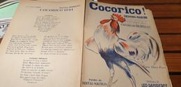 COCORICO 1944  CHANSON MARCHE/BERTAL MAUBON /LEO DANIDERFF /CLERICE FRERES - Spartiti