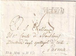 VICENZA Per Parma 23.6.1816 - 1. ...-1850 Prefilatelia