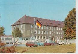 CPSM Müllheim (Muellheim) - Kaserne (avec Voitures Années 60 / 70 : R 16, Ami 6, DS, 4 L, R 8, 2 CV ...) - Muellheim