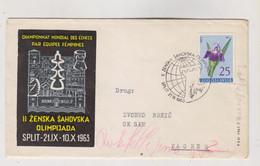 YUGOSLAVIA, SPLIT 1963 CHESS Nice Cover - Covers & Documents