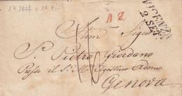 VICENZA Per Genova 1.9.1847 - 1. ...-1850 Prefilatelia