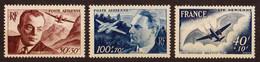 1947/48  Poste Aérienne  N° PA 21 à PA 23  Neufs**  (cote Yvert: 11.00€) - 1927-1959 Mint/hinged