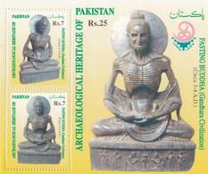 Archaeological Heritage Of Pakistan - Fasting Buddha - On Leaflet - Pakistan