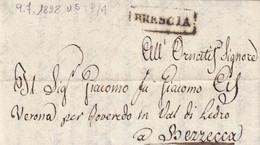 BRESCIA Per Bezzecca 9.7.1828 - 1. ...-1850 Prefilatelia