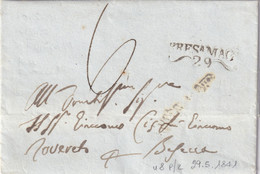 BRESCIA Per Rovereto 29.5.1841 - 1. ...-1850 Prefilatelia