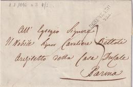 DESENZANO Per Parma 8.2.1846 - 1. ...-1850 Prefilatelia