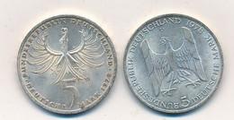 J122-79 - Monnaie Allemagne - Lot De 2 Pièces Argent 5 Deutsche Mark - 1978 - 5 Mark