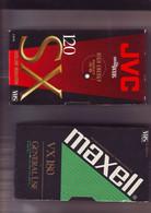 2 Cassettes K7 Videos A Re-enregistrer En Bon état : 1 X 180 Minutes + 1 X120 Mn - Other