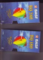 2 Cassettes K7 Videos A Re-enregistrer Bon état:1 X 180 Minutes+1 X240 Mn Basf - Other